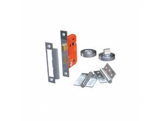 64mm Bathroom Lock and Hinge Door Pack